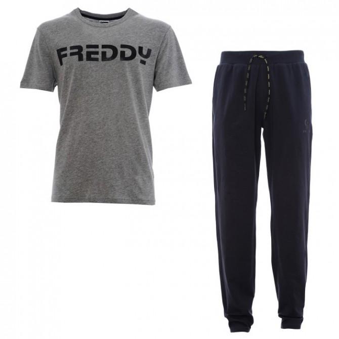 Pantalone felpa + t-shirt Freddy METRO3TS Uomo