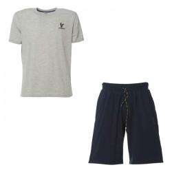Bermuda en tejido de punto + t-shirt Freddy hombre