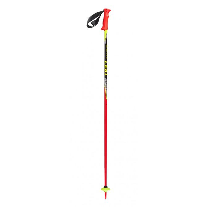 Bastones de esquí Leki Racing Kids rojo-negro