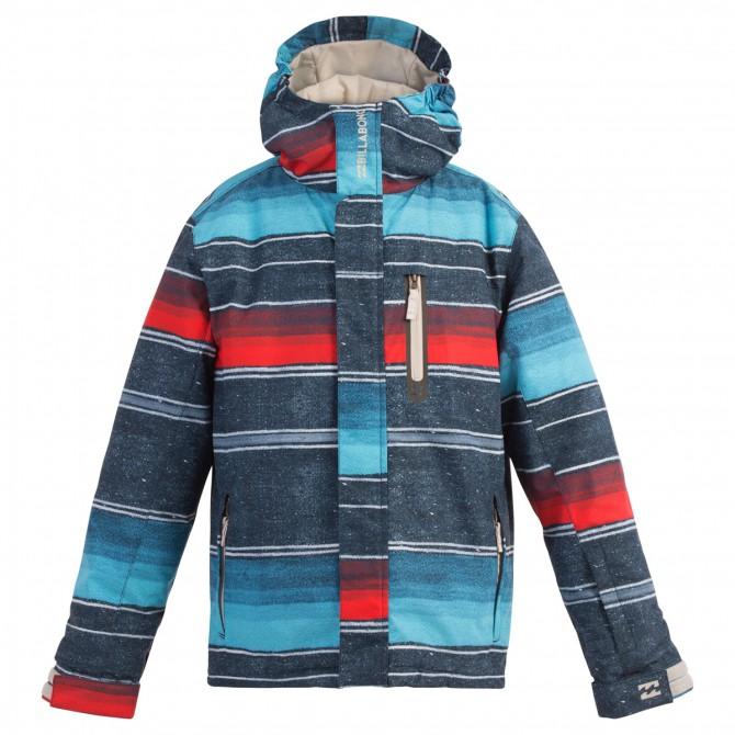 Giacca snow Billabong Legend Junior blu jeans-turchese-rosso