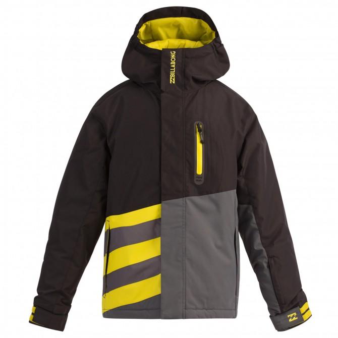 Giacca snow Billabong Slice Junior nero-giallo-grigio