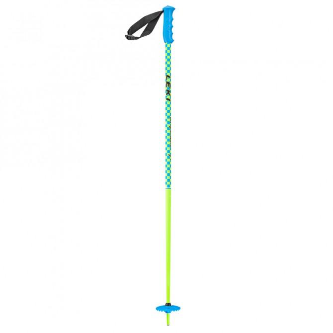 Ski Poles Leki Checker X yellow-light blue