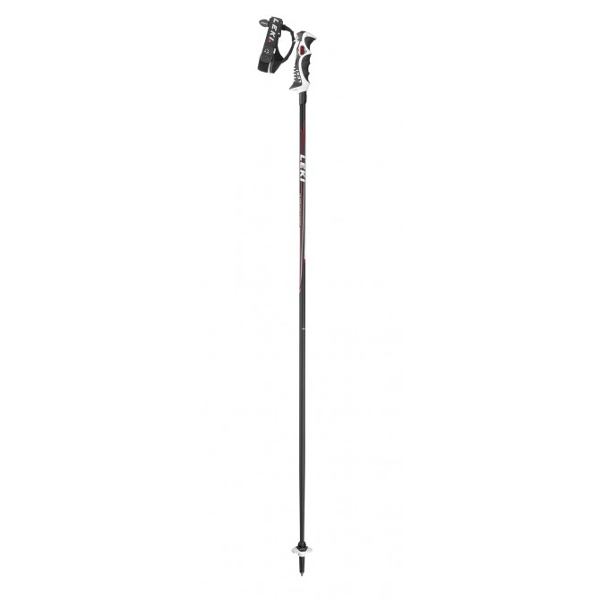 Ski poles Leki Carbon 14S black-red