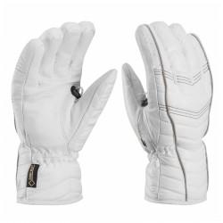Ski gloves Leki Cortina S Gtx white-grey