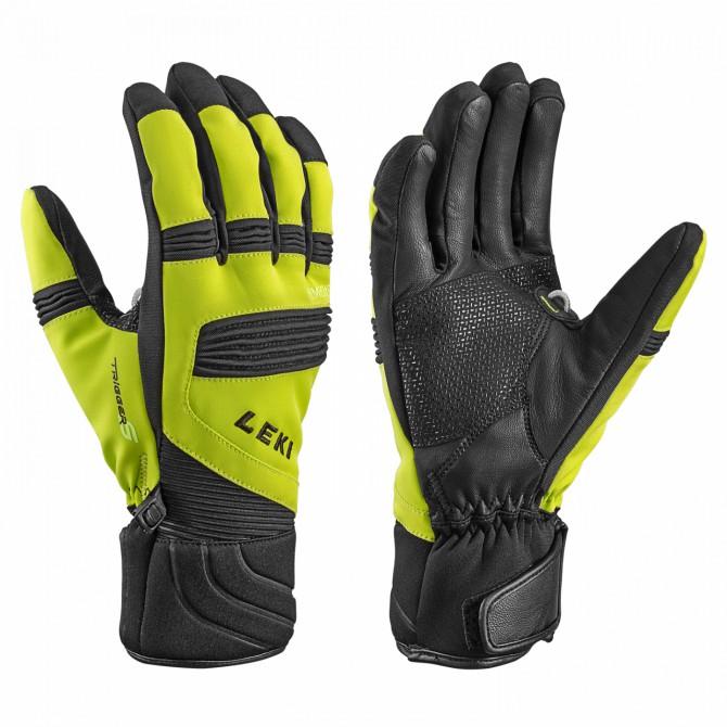 Ski gloves Leki Elements Palladium lime-black