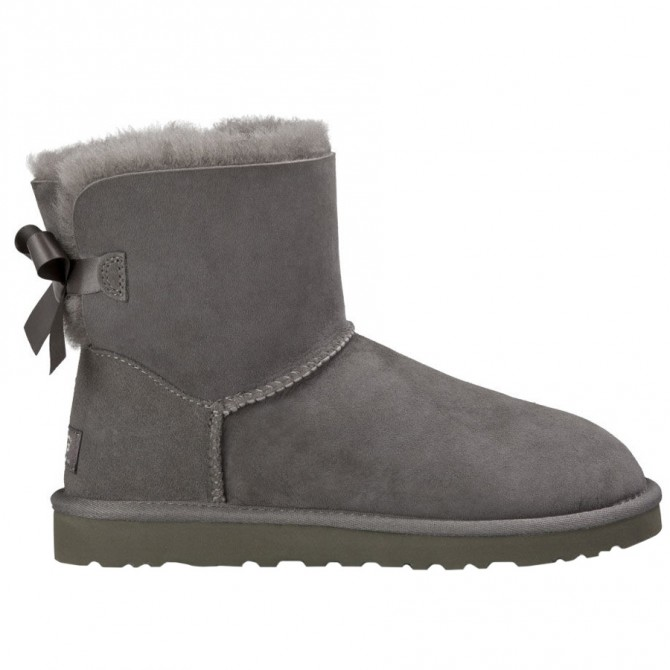 Bottes Ugg Mini Bailey Bow Femme gris