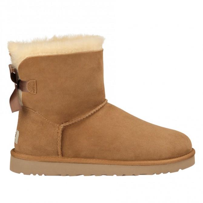 Boots Ugg Mini Bailey Bow Woman hazelnut