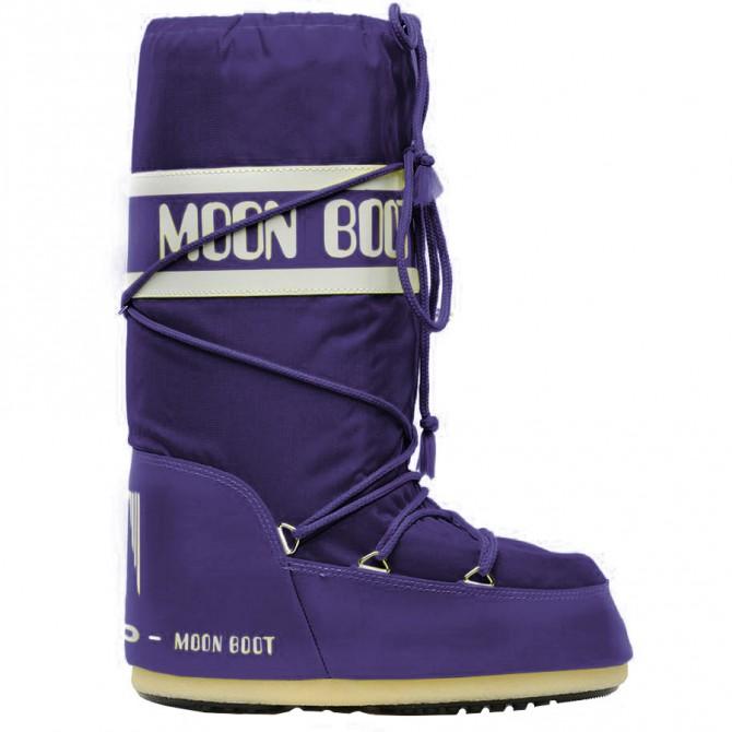 Après-ski Moon Boot Nylon Femme violet