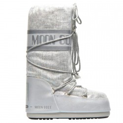 Après-ski Moon Boot Shiny Brush Femme blanc