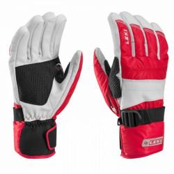 Ski gloves Leki Mountain Trail S red-white
