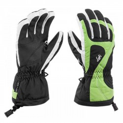 Gants de ski Leki Falera S Junior noir-lime-blanch
