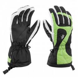 Ski gloves Leki Falera S Junior black-lime-white