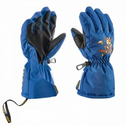 Guantes de esquí Leki Pilot Junior azul-royal