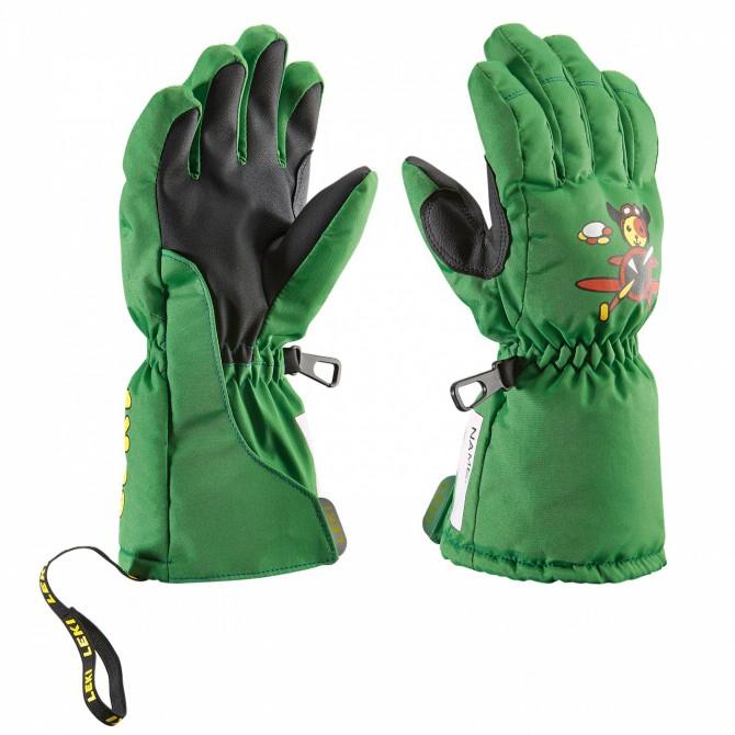 Ski gloves Leki Little Pilot Baby green