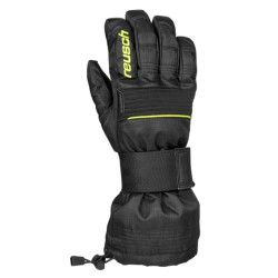 Ski gloves Reusch Baseplate black-yellow fluo