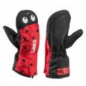 Mitón Leki Little Beetle Baby negro-rojo