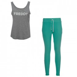 Pantalón en tejido de punto + camiseta Freddy SNOWTT mujer