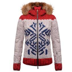Piumino sci Colmar Alaska beige-rosso-blu