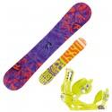 snowboard Rossignol District Amptek + fijaciones Battle V2 m/l