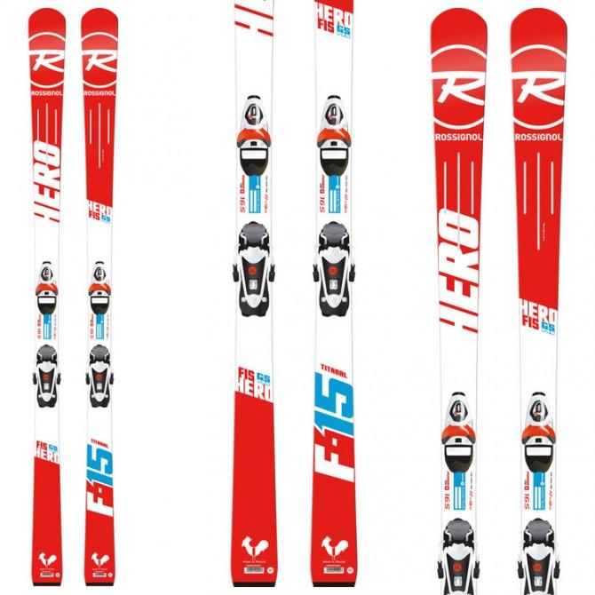 Esquí Rossignol Hero Fis Gs Open + fijaciones Jr Pro 70 B73