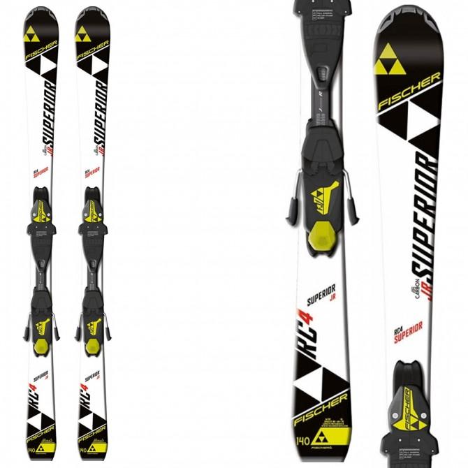 Ski Fischer Rc4 Superior Jr Rail + fixations Fj4 Ac