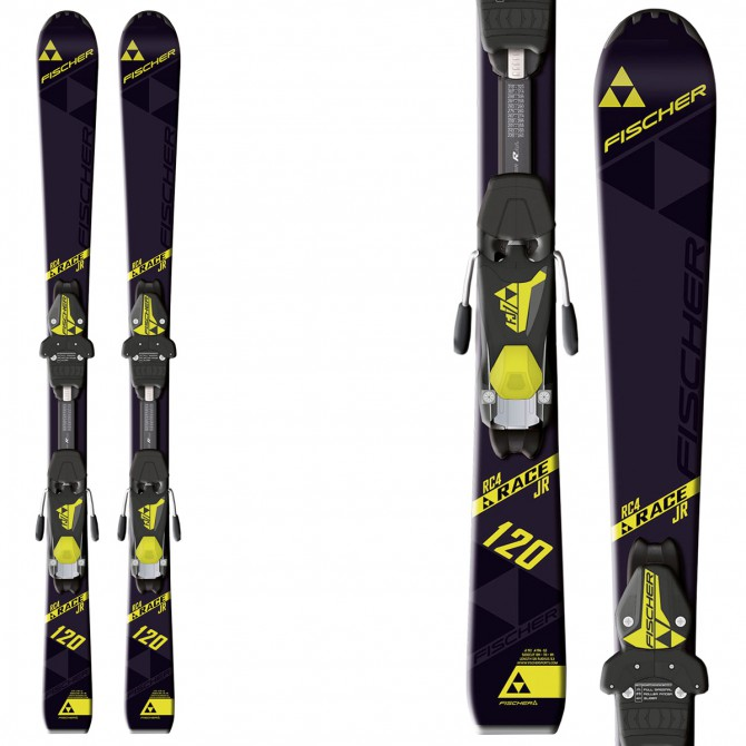 Ski Fischer Rc4 Race Jr Rail + bindings Fj4 Ac Rail