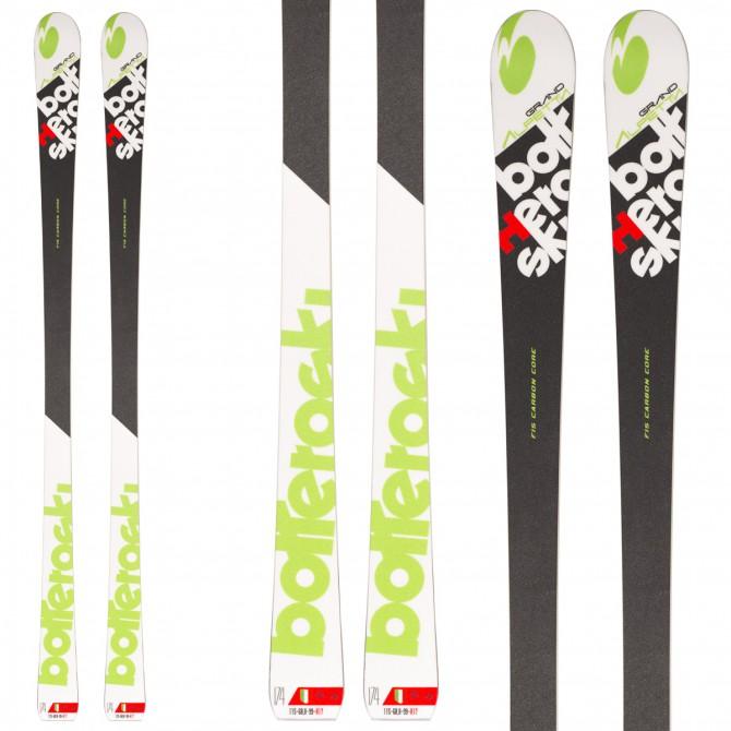 Ski Bottero Ski Grand Alpetta + fixations V614 + plaque Vist WC