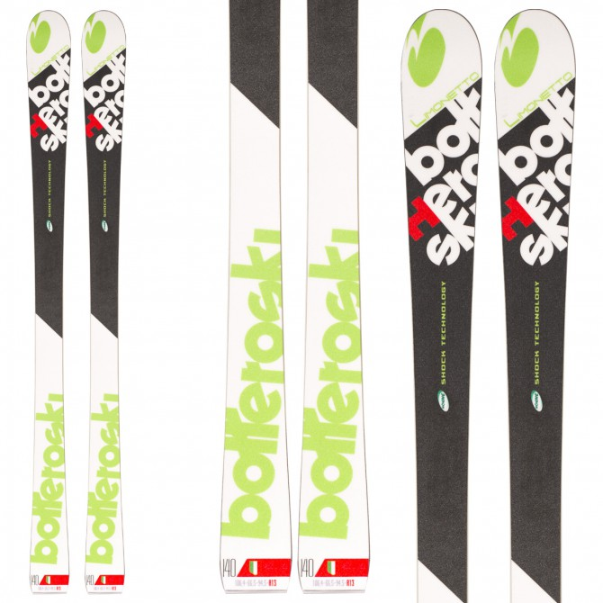 Sci Bottero Ski Limonetto + attacchi Goode V212 + piastra Quicklook