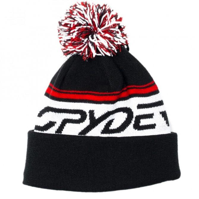 Cappello Spyder Icebox nero-rosso-bianco