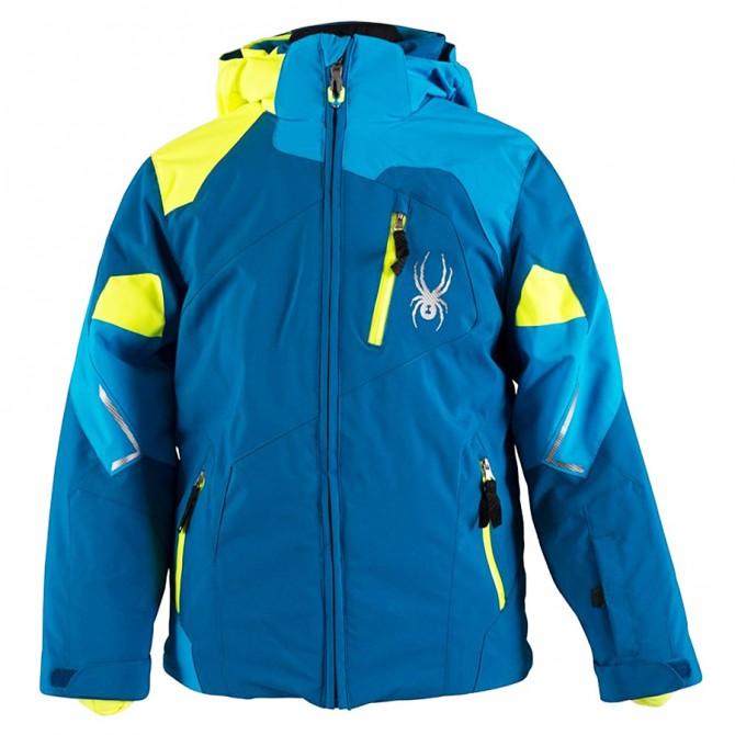 Giacca sci Spyder Leader blu-giallo