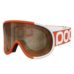 Maschera sci Poc Retina Big Comp arancione-bianco