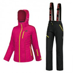 Ski suit Astrolabio A38C Woman fuchsia-red-black