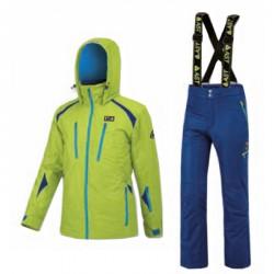 Complète de ski Astrolabio A39W Homme lime-royal-bleu