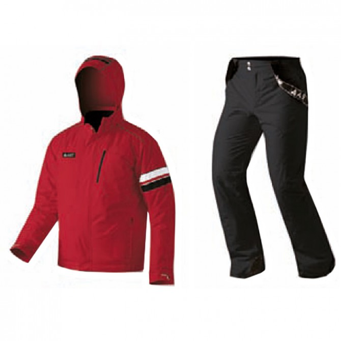 Ski suit Astrolabio Man red-black