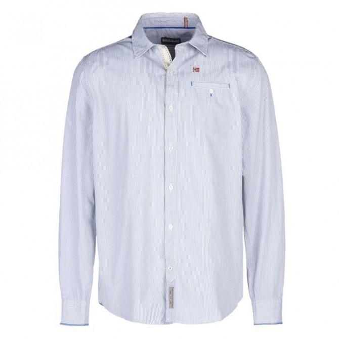 Camicia Napapijri Galatea Uomo azzurro-bianco