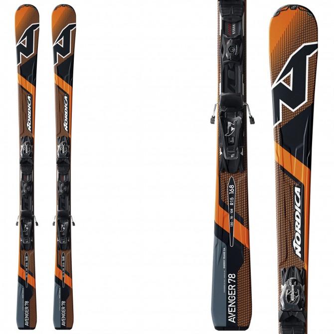 Esquí Nordica Avenger 78 Ca Evo + fijaciones N Adv Pr Evo