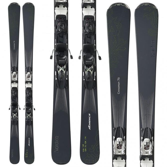 Esquí Nordica Cinnamon 72 Ca Evo + fijaciones N Adv Pr Evo