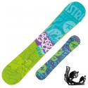 Snowboard Rossignol District Amptek Wide + fijaciones Battle V1