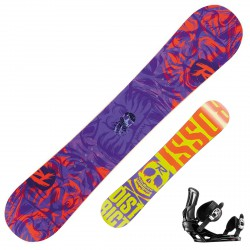 Snowboard Rossignol District Amptek Wide + fijaciones Battle V2 m/l