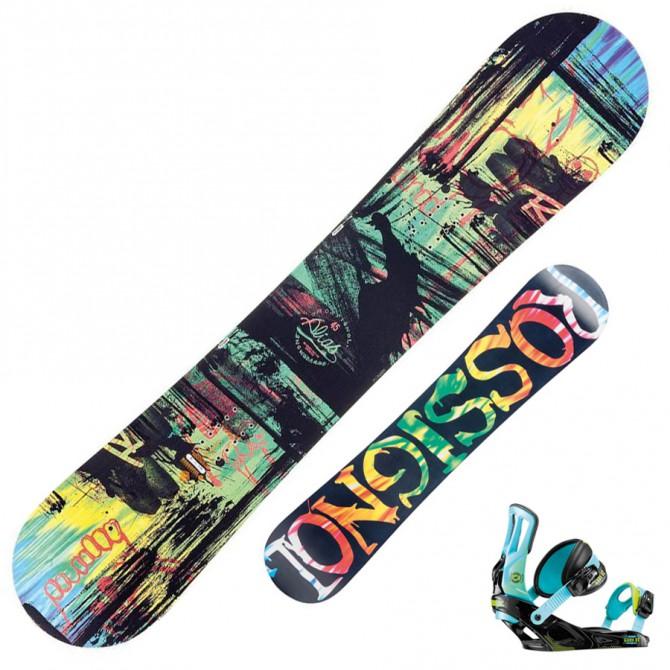 Snowboard Rossignol Alias Amptek + bindings Cage V2 m/l