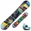 Snowboard Rossignol Alias Amptek + fijaciones Cage V2 m/l