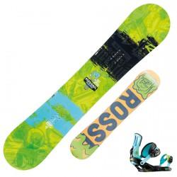 Snowboard Rossignol Tricstick Amptek Wide + fijaciones Cage V2 m/l