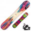 Snowboard Rossignol Diva Magtek + fixations Diva s/m