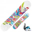 Snowboard Rossignol Scan Amptek + fixations Rookie s