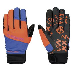 Guanti snow Quiksilver Method arancio-viola-nero