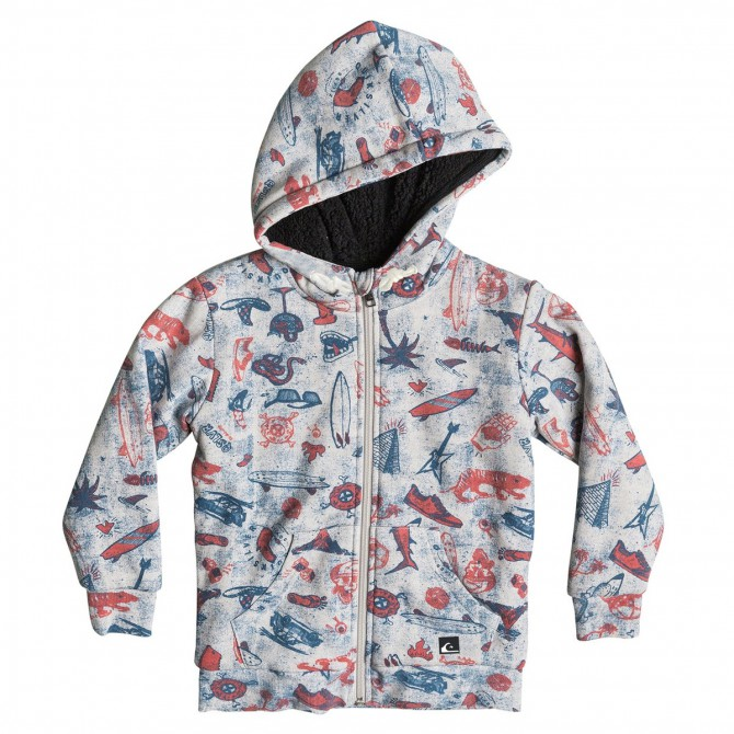 Sweat-shirt Quiksilver Allover Sherpa Backool Junior
