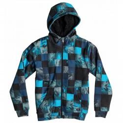 Felpa Quiksilver Allover Sherpa Junior nero-azzurro