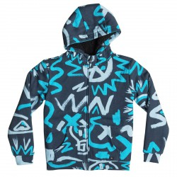 Felpa Quiksilver Allover Sherpa Cave Rave Junior