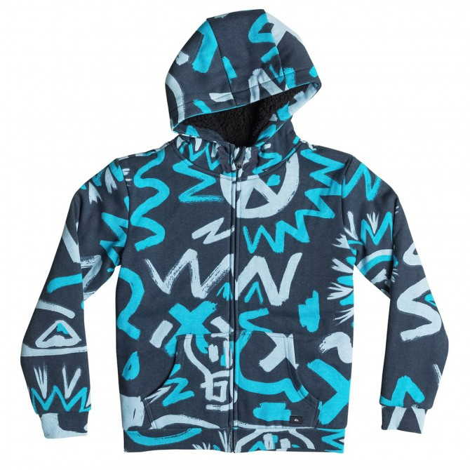 Sudadera Quiksilver Allover Sherpa Cave Rave Junior