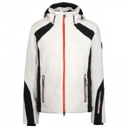 Giacca sci Emporio Armani Woven nero-bianco-rosso